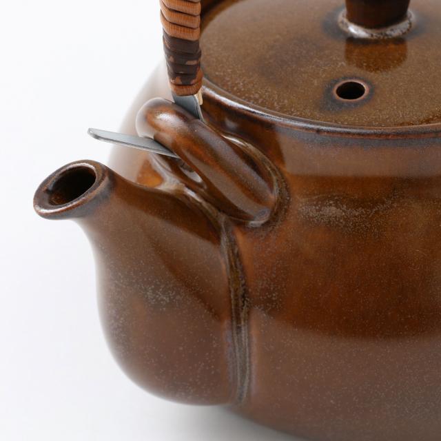 萬古焼の耐熱土瓶 飴