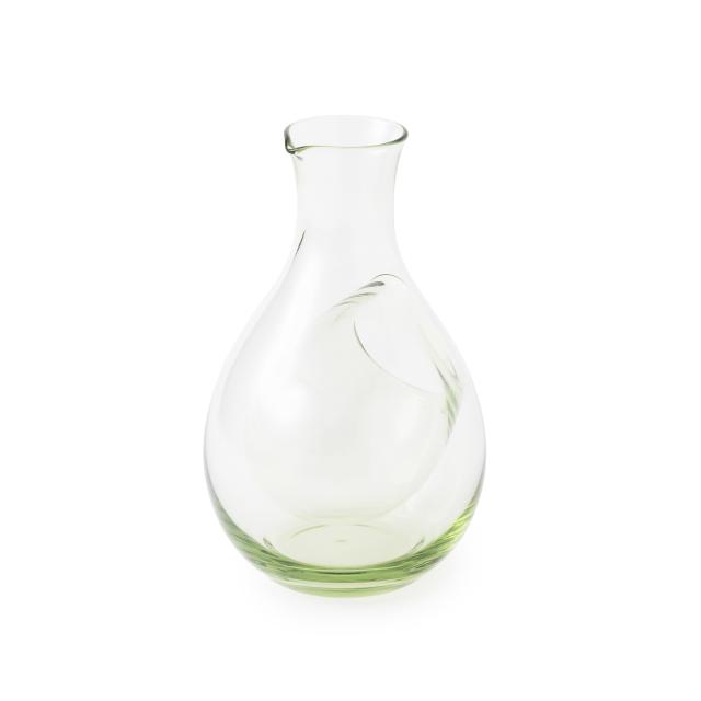 萩ガラス工房 緑の玄武岩ガラス ポケット徳利