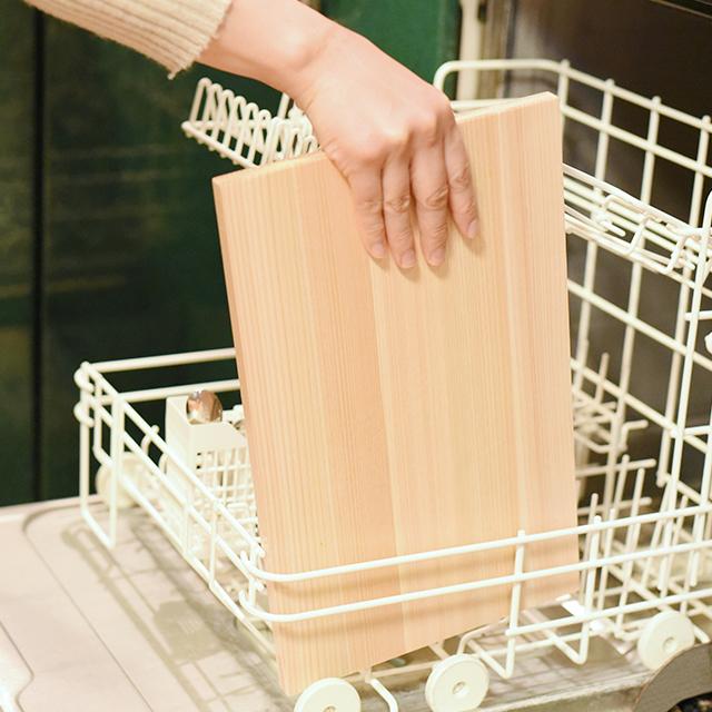 食洗機で洗えるひのきのまな板 大