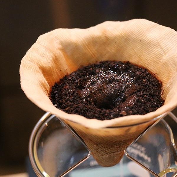 茶巾生地のコーヒーフィルター 円錐形