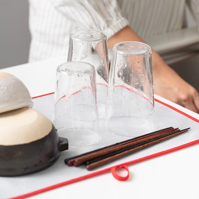 食器の水切り吸水マット