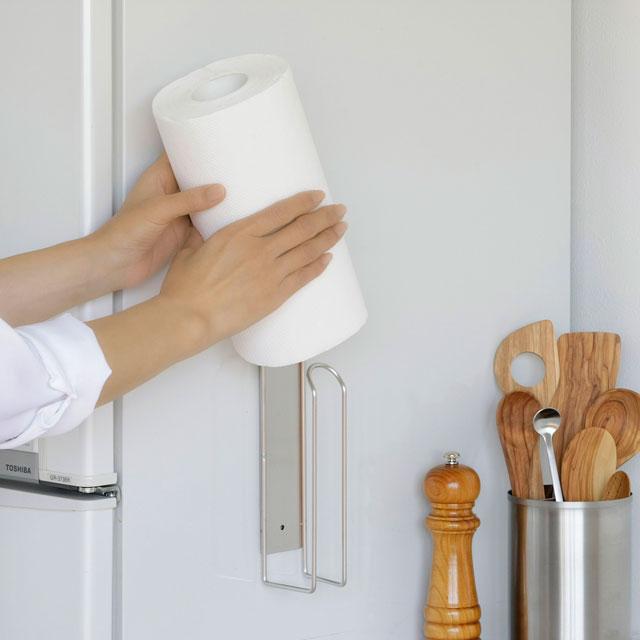家事問屋 壁付けキッチンペーパーホルダー