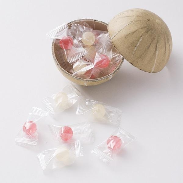 紅白花火玉お菓子 紅白飴