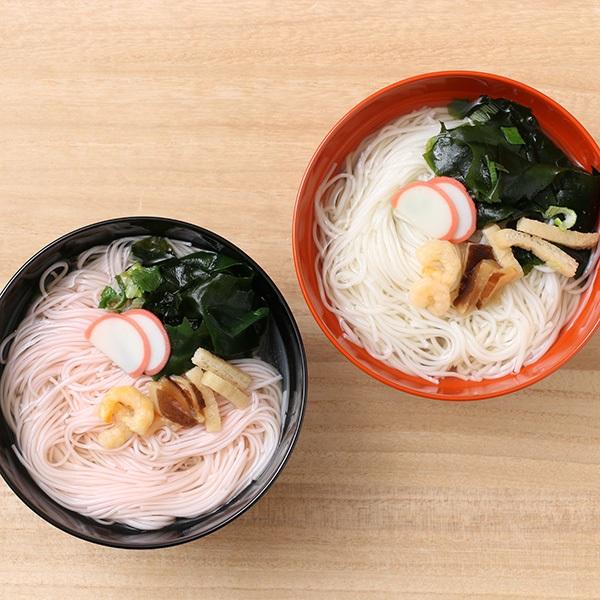 坂利製麺所 紅白めでたにゅう麺