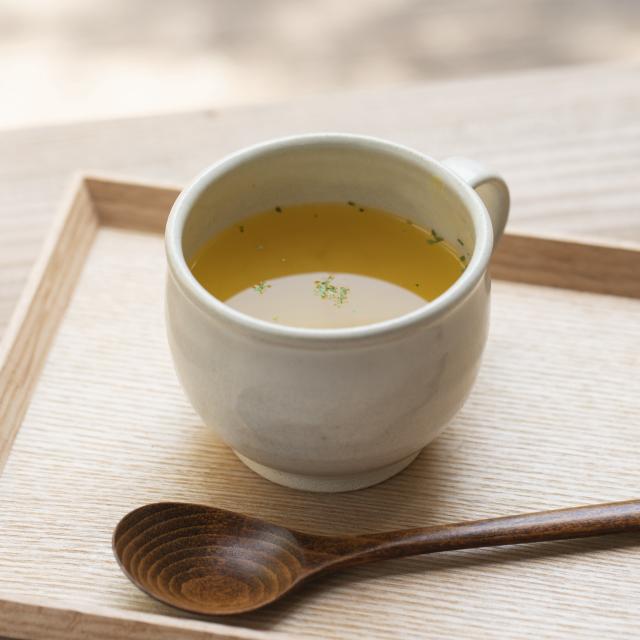 当帰葉入り吉野葛スープ