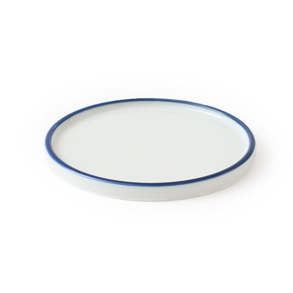 美濃染付猪口鉢 鉢皿 独楽筋 2.5号