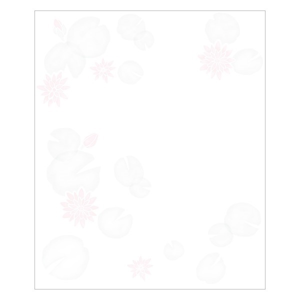 夏の懐紙 六種の花
