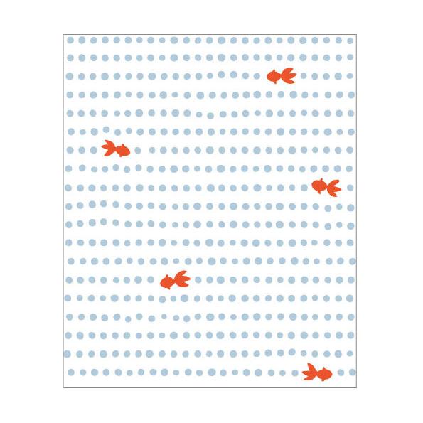 季節の懐紙 豆絞り金魚