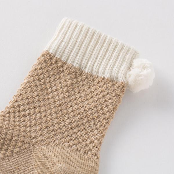 鹿の子編みのベビーくつした