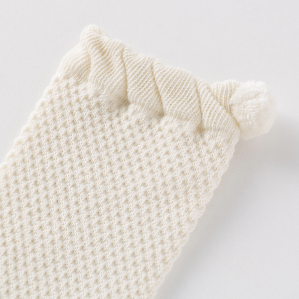 鹿の子編みのベビーレッグウォーマー
