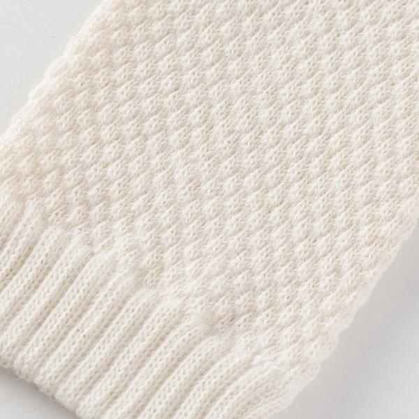 鹿の子編みのベビーミトン