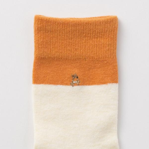 鹿の子供靴下 キッズ