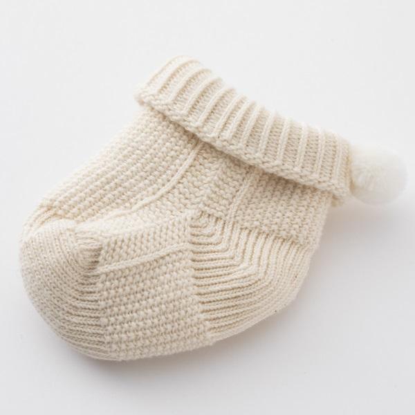 鹿の子編みのベビーブーティ