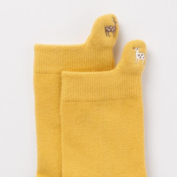 綿の鹿キッズ靴下