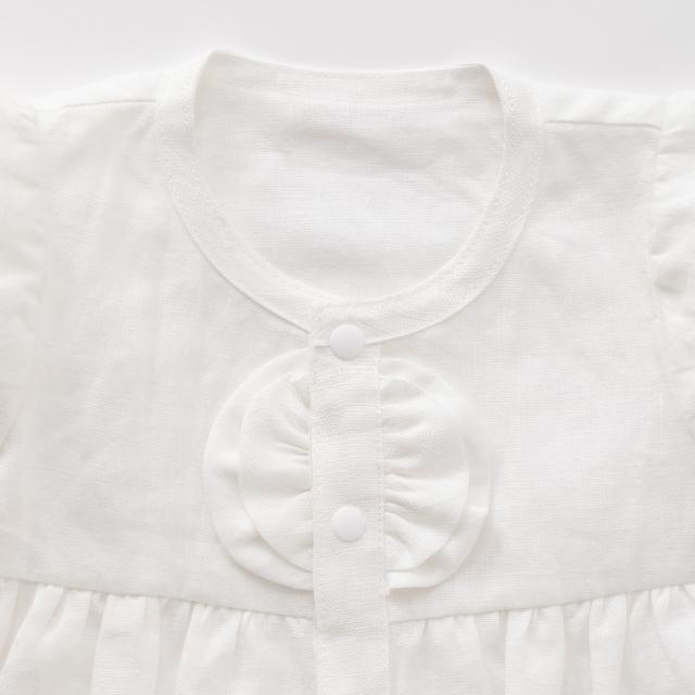 麻のベビードレス