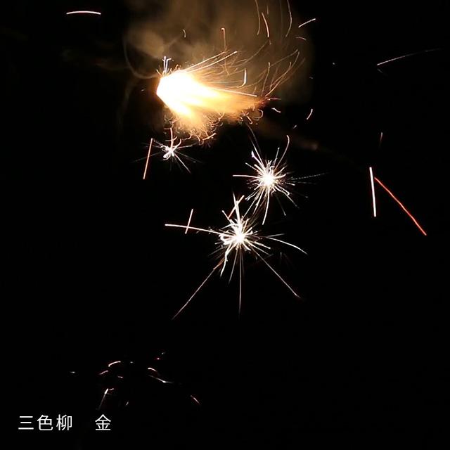 日本の手花火 三色柳