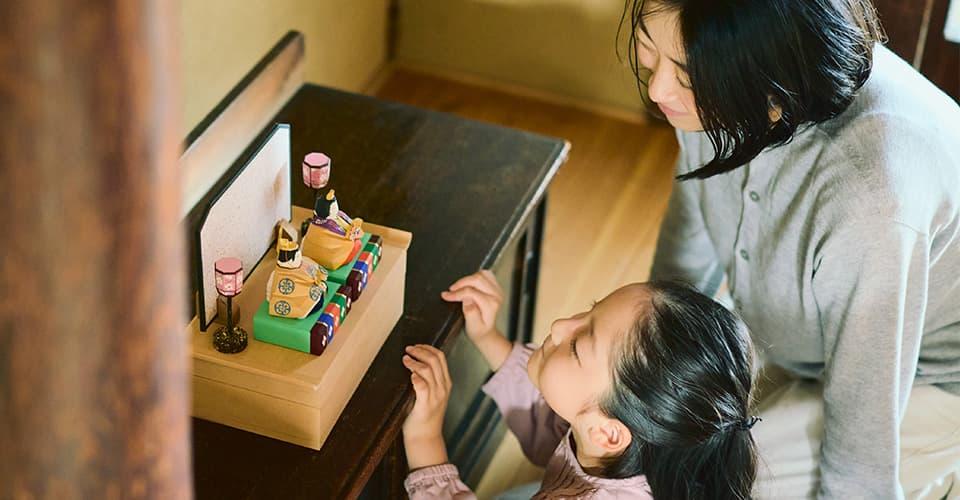 奈良一刀彫の雛飾り