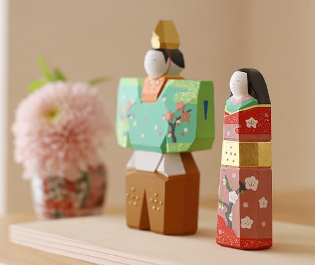 奈良一刀彫の雛飾り 立雛