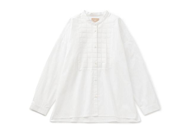 オパール加工の切り替えシャツ