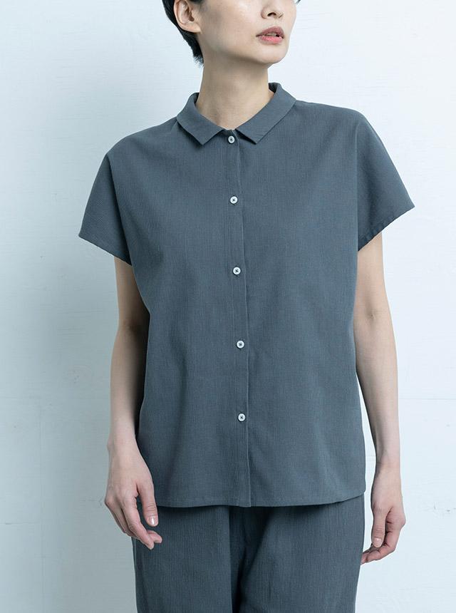 高島ちぢみのフリーシャツ