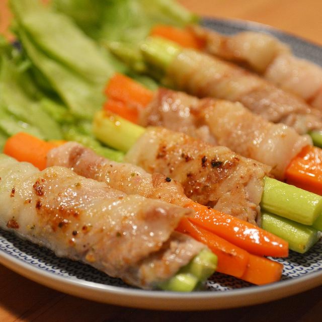 豚バラ野菜巻き