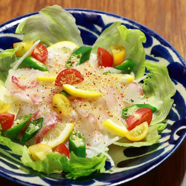 夏野菜と鯛のカルパッチョ