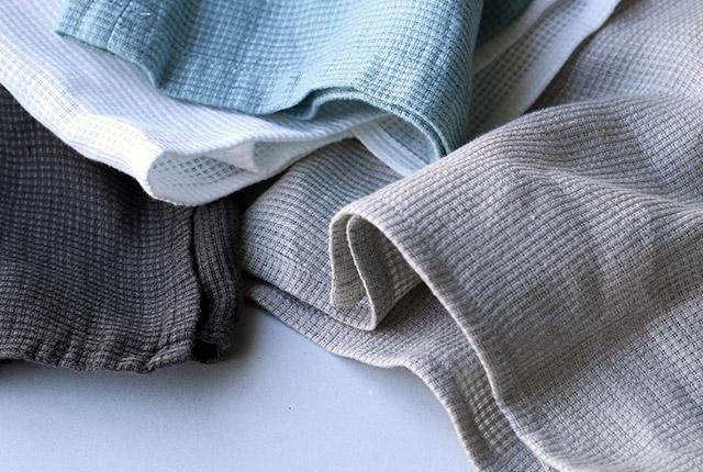 麻のワッフル織