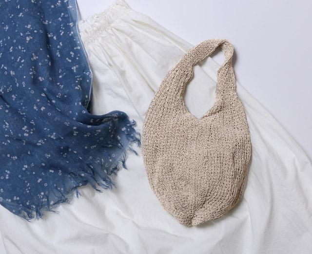 新潟で編んだ和紙糸の手提げ