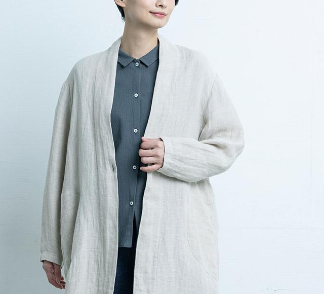 麻ガーゼのコート