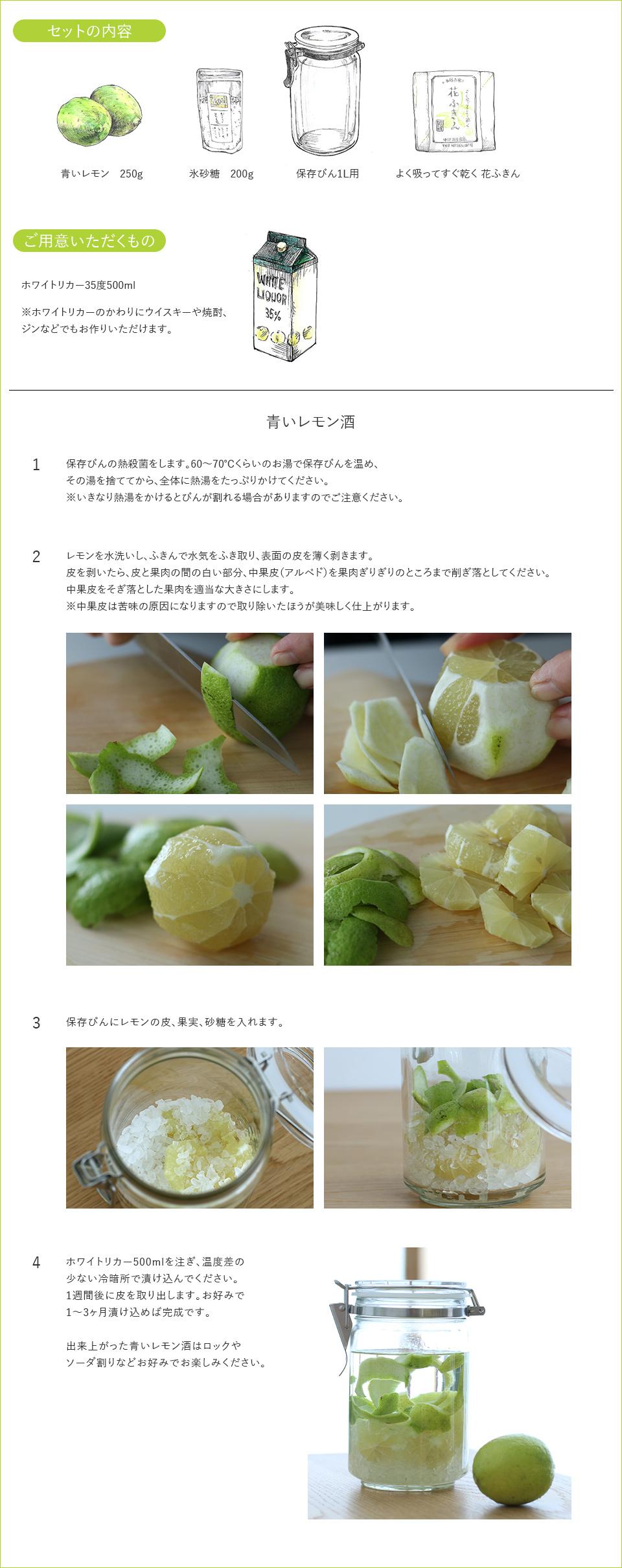 青いレモン酒キット