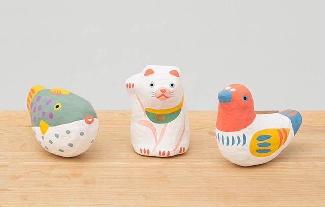 めでた玩具 張子 招き猫