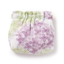ギャザーポーチ 紫陽花