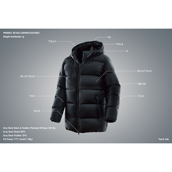 THE MONSTER SPECR DOWN JACKET BLACK