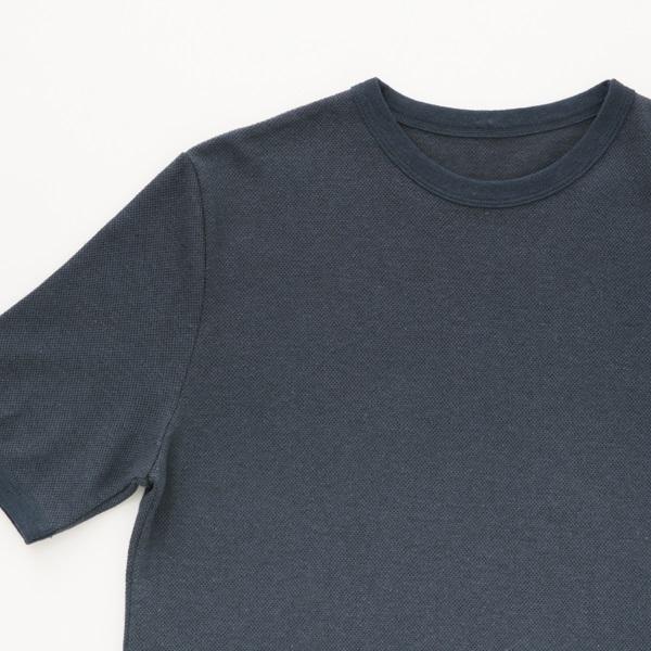 綿麻鹿の子Tシャツ L