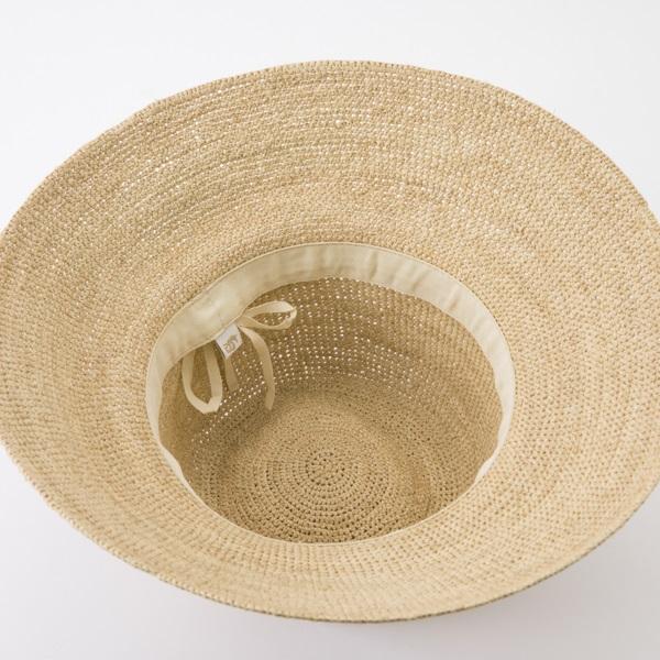 ラフィア帽 はな七宝