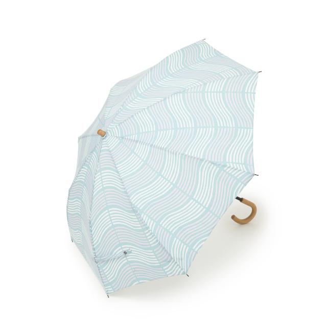 晴雨兼用折畳み日傘 よろけ×縞