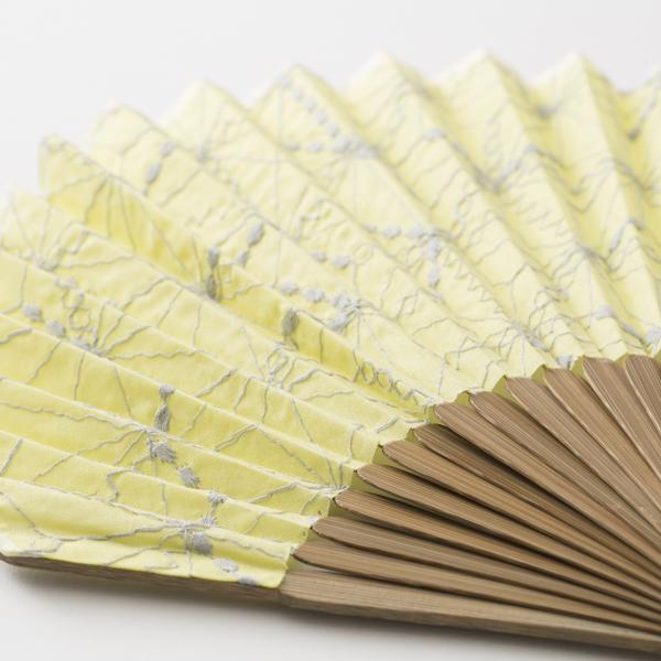 扇子ホタテ形 麻の葉刺繍