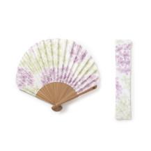 扇子ホタテ形 紫陽花