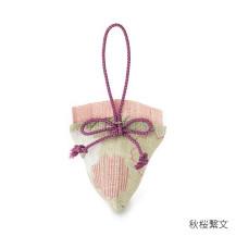 三角香袋 秋の小紋