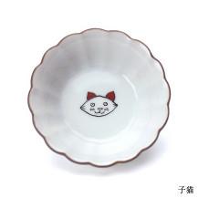 KUTANI SEAL CAT 菊小鉢