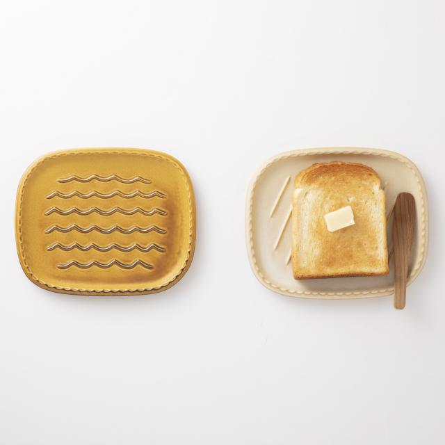 蒸れにくいパン皿