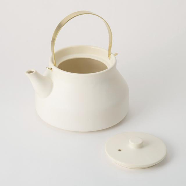 かもしか道具店 陶のやかん こぶり