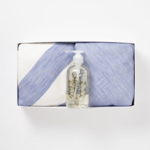 パイルガーゼフェイスタオル・縞フェイスタオル ・うるおい手洗石鹸