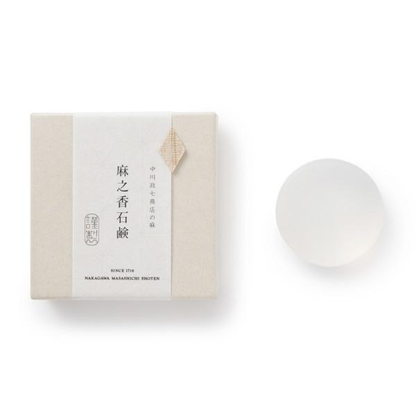 遊 中川花ふきん 麻・蚊帳たおる 小紋鈴・麻之香石鹸