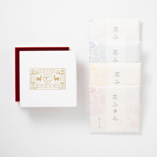 遊 中川 花ふきん 4枚セット(箱入り)