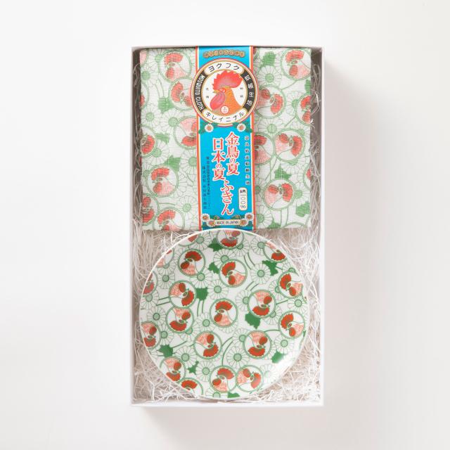 金鳥の夏 日本の夏ふきん・金鳥の夏 日本の夏 九谷焼小皿