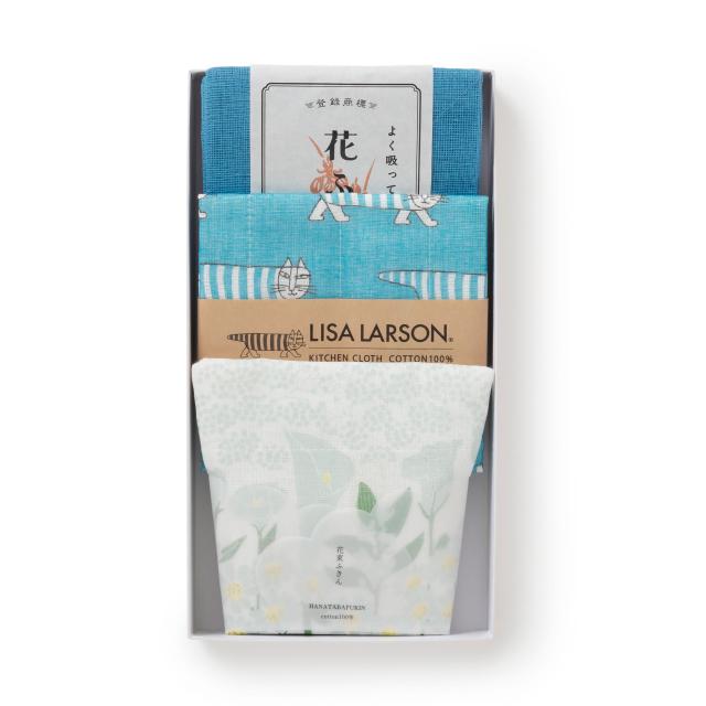 LISA LARSONと花束ふきんのセット