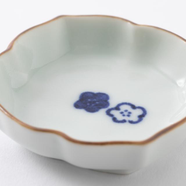 THE 醤油差し・有田焼の豆皿 梅 2枚