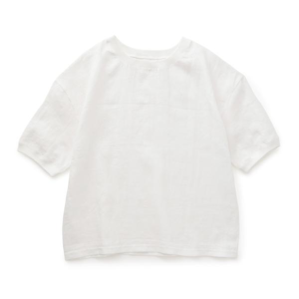麻布Tシャツ 白・ふんわり大判リネンストール