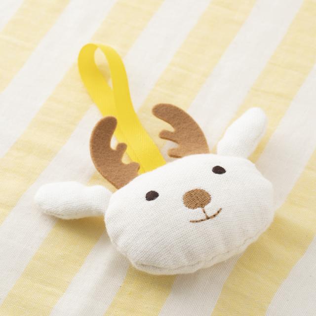鹿のおやすみだっこタオル・すぐに吸いとるベビータオル